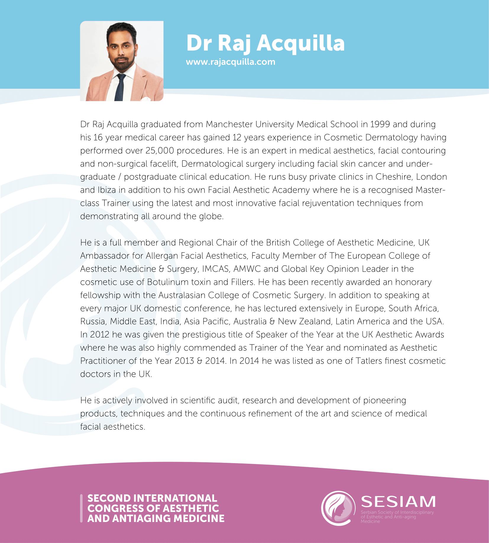 Dr Raj Acquilla